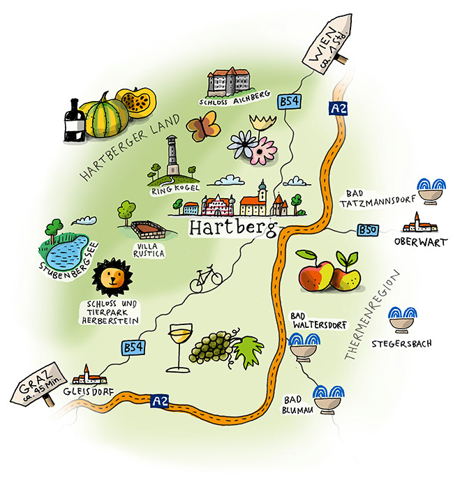 Karte Hartberg